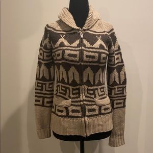 EUC TNA lambs wool knit native print sweater